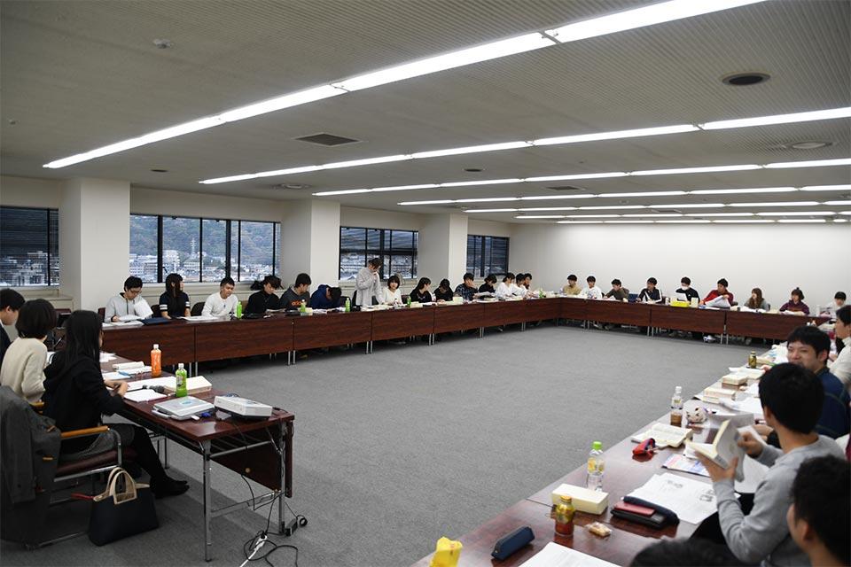 労働法ゼミ(福岡大学と合同ゼミ)